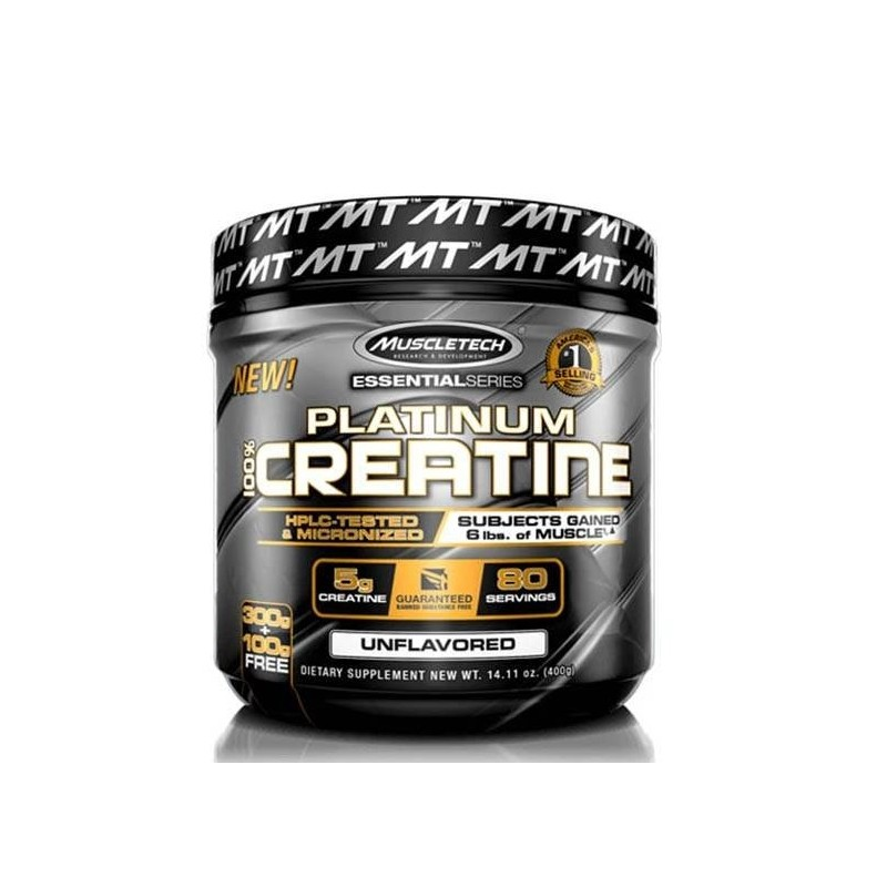 MuscleTech Platinum 100% Creatine 400 gramos